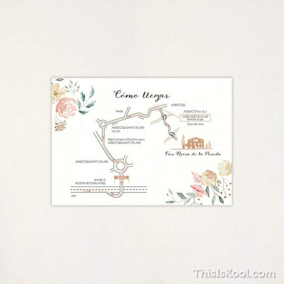 """Mapa casament - """"FLORAL""""   This Is Kool"""