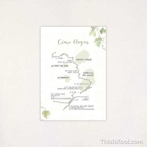 "Mapa casament - ""VINYA"" | This Is Kool"