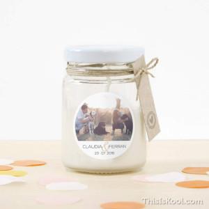 """Espelma vidre casament - """"CORONA OLIVERA"""""""