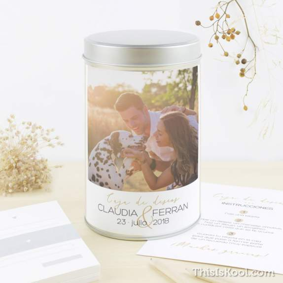 "Caja deseos boda - ""POSTCARD"" 