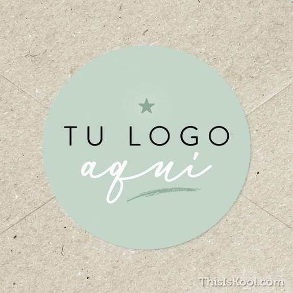 "Adhesivo boda - ""TU LOGO AQUÍ"" 