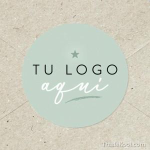 "Adhesivo boda - ""TU LOGO AQUÍ"" | This Is Kool"