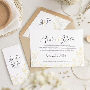 """Invitación boda - """"RETAMA"""""""