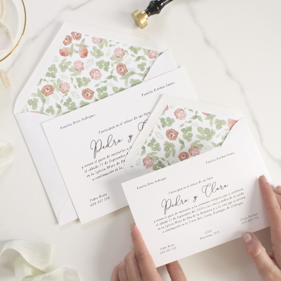 "Invitación boda - ""ESTAMPADA"" 
