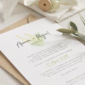 """Invitación boda - """"GARDEN"""""""
