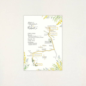 "Mapa casament - ""ALEGRIA"""