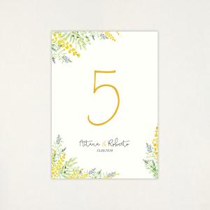 """Número taula casament - """"ALEGRIA"""""""
