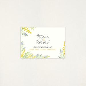 """Targeta Llista casament - """"ALEGRIA"""""""