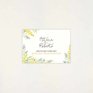 "Targeta Llista casament - ""ALEGRIA"" | This Is Kool"