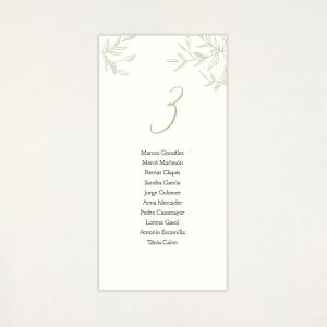 """Lista mesa boda - """"CALMA"""""""