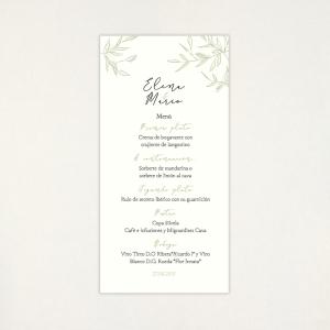 """Menú casament - """"CALMA"""""""