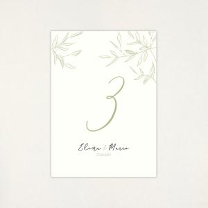 """Número taula casament - """"CALMA"""""""