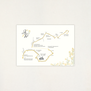 """Mapa casament - """"GINESTA"""""""