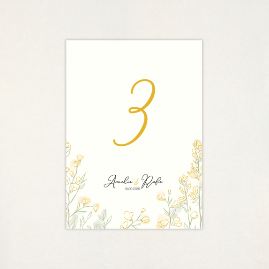 "Número mesa boda - ""RETAMA"" | This Is Kool"