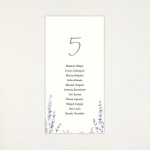 """Lista mesa boda - """"LAVANDA"""""""