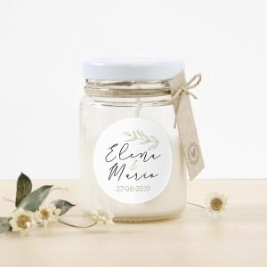 """Espelma vidre casament - """"CALMA"""""""