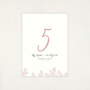 """Número mesa boda - """"SOFT"""""""