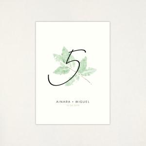 """Número taula casament - """"GARDEN"""""""