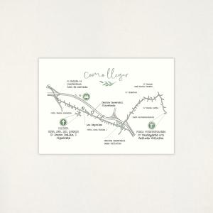 "Mapa boda - ""BOTÁNICA VERDE"""