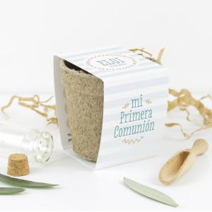 """Kit semillas comunión - """"RAYAS"""" Azul"""