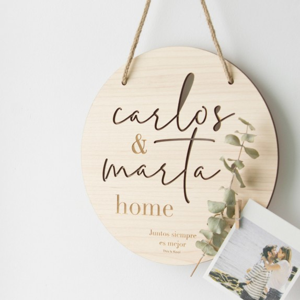 "Placa fusta - ""HOME"""
