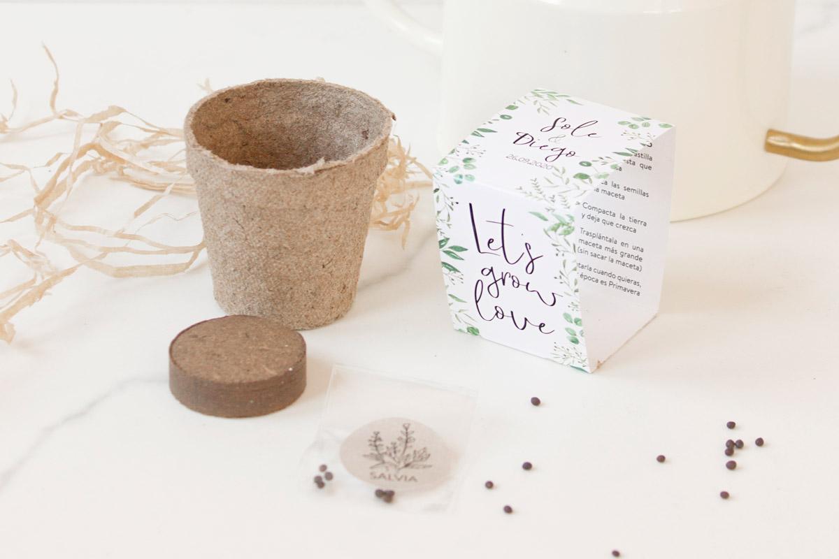 Kit de semillas como detalle para invitado