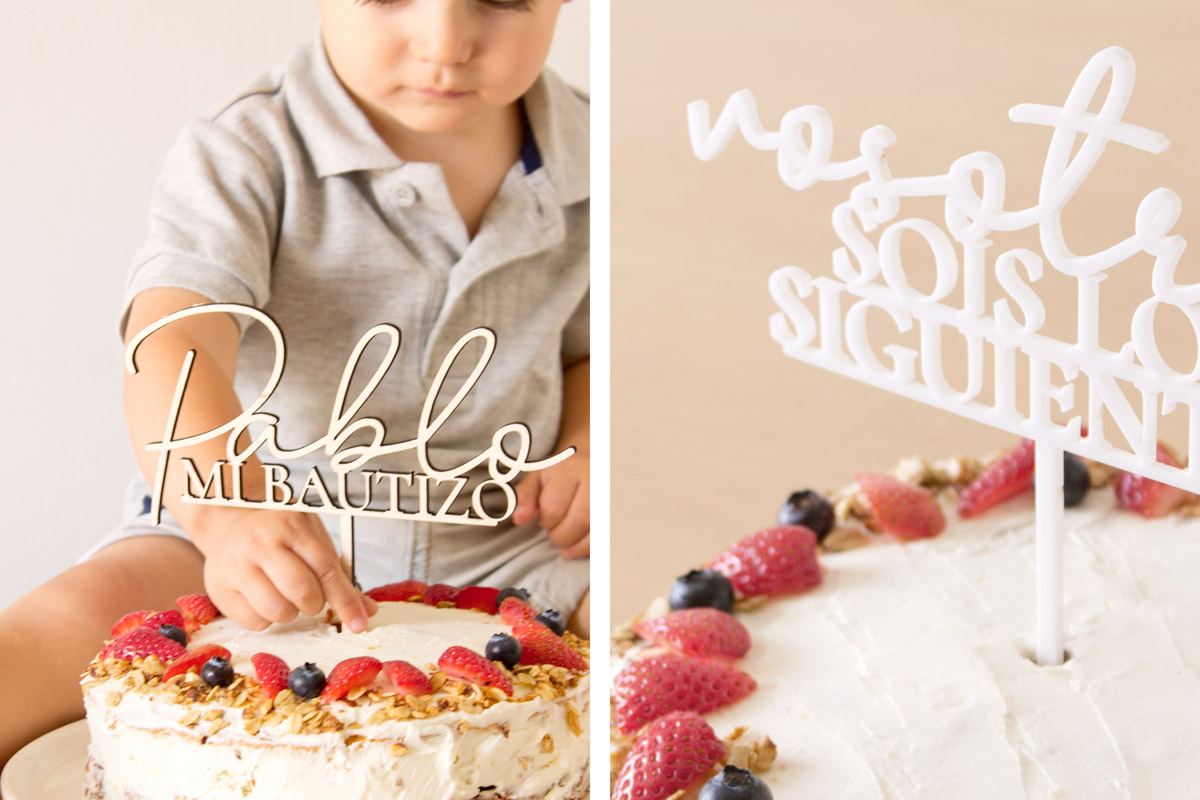 Cake topper para decorar bizcochos