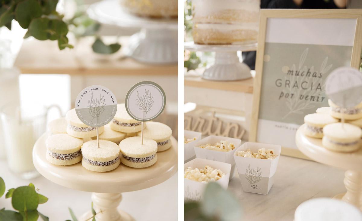 Papelería para decorar una mesa dulce de bautizo